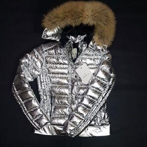 moncler coat fox fur jacket